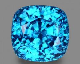 10.11 Cts Fine Stone Sparkling Lustrous Natural Blue Zircon
