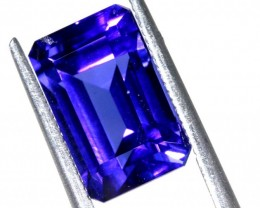 8.85CTS TANZANITE FACETED STONE RECTANGLE TBM-1151