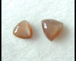 Sell 2PCS Natural Sunstone Cabochons,14x6mm,12x5mm,14.5ct(17051203)