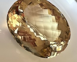 652.50ct Certified Citrine Smokey Quartz Gem - Rare size Display stone