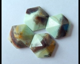 Sell 4pcs Natural Amazonite Faceted Cabochon,Beautiful Cabochon Set,20x9mm,