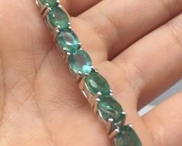 (7) Stunning 70tcw. Brazilian Emerald Bracelet Untreated Retail $1500