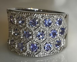 A gorgeous Tanzanite Ring Sterling Silver size 8