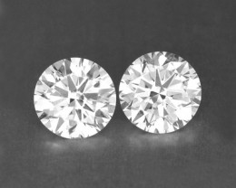 0.27 Cts Natural White Diamond Pair Africa