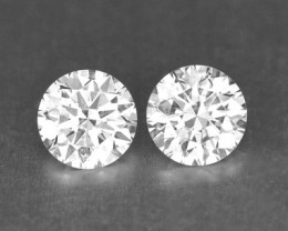0.33 Cts Natural White Diamond Pair Africa