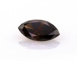 2.10 ct. Natural fancy dark brown VS2 Marquise cut diamond, IGI