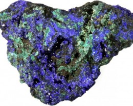 88.20 CTS AZURITE+ MALACHITE  ROUGH -CHINA [F7198]