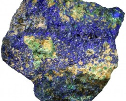 253.25 CTS AZURITE+ MALACHITE  ROUGH -CHINA [F7212]