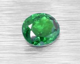 UNTREATED Tsavorite Garnet 1.08 Ct. (00556) Good Colour for a Ring - Eye Cl