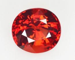 ~VVS~ 5.67 Cts Natural Spessartite Garnet Reddish Orange Oval Namibia
