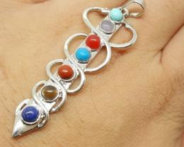 27.55 ct Crystal Healing Chakra Pendant