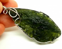 MOLDAVITE  The Holy Grail stone Crystal pandent