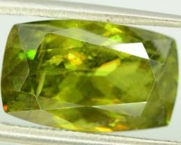 6.0  cts Rare Full Fire Green Sphene Titanite Gemstone