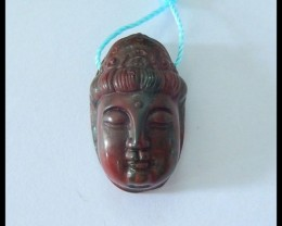 Natural Muti Color Picasso Jasper Carving Buddha Head Pendant,23x14x10mm,29