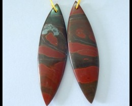 Natural Muti Color Picasso Jasper Earrings,47x13x4mm,35.5ct(17052005)