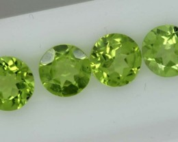 3.35CTS GREEN PERIDOT FACETED PARCEL 4PCS   CG-2235
