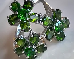 'SPRING FIELD' Chrome Diopside Sterling Silver Ring Size 7