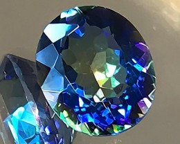4.65ct Ink Blue flash Mystic Quartz gem Mottled Quality