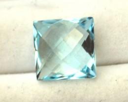 4.15 Carat Nice Square Checkerboard Cut Sky Blue Topaz