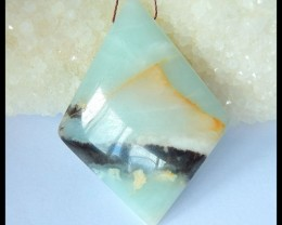 Natural Amazonite Beautiful Pendant ,57x43x9mm,120ct(17052105)