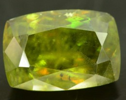 7 ct Rare Full Fire Green Sphene Titanite Gemstone