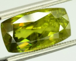 5 ct Rare Full Fire Green Sphene Titanite Gemstone