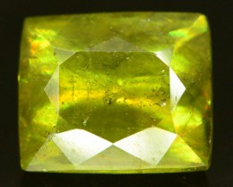 1.80 ct Rare Full Fire Green Sphene Titanite Gemstone