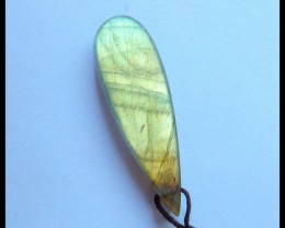 Natural Flashy Labradorite Teardrop Pendant,40x13x5mm,22ct(17052208)