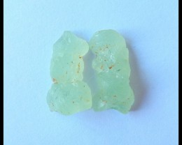 Natural Prehnite Nugget Cabochon Pairs,19x11x7mm,16ct(17052210)