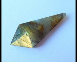Natural Faceted Labradorite Cabochon,41x17x9mm,27.5ct(17052211)