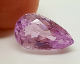 GREAT LUSTER AND CUT pink KUNZITE 5.10 Cts  Gemstone