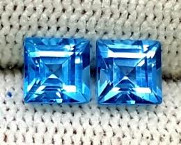 1.95CT LONDON BLUE TOPAZ PAIRS BEAUTIFUL GEMSTONES