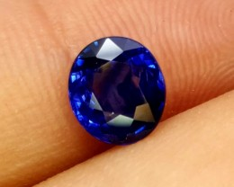 GIL CERTIFIED  NATURAL FACETTED BLUE SAPPHIRE 1.29 Cts