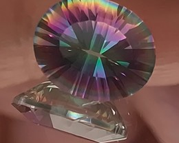 3.06ct Rainbow Concave Mystic Quartz - No Reserve!