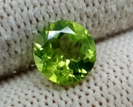 1.35CT PERIDOT ROUND FACETED GEMSTONE