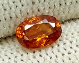 NATURAL HESSONITE OVAL FACETED GEMSTONES 0.60CT