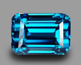 11.05 Cts Attractive Perfect Ring Size Natural Deep Blue Zircon