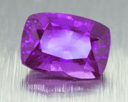 Unheated Natural Ceylon Purple Sapphire Rectangular Cushion Cut 1.70 Ct