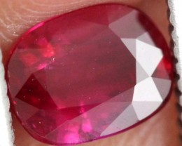 1.02CTS CERTIFIED UNHEATED RUBY FACETED ANGC-727