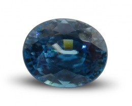 3.78 ct Oval Blue Zircon