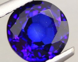 1.13ct Natural Africa Royal Blue Sapphire Round Diffusion HEATED