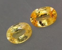 1.92ct Natural Ceylon Yellow Sapphire Oval Pair HEATED