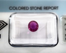 IGI Certified Ruby - 1.00Cts - Natural African Ruby