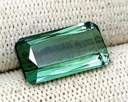 5.55CT TOURMALINE TOP QUALITY GREEN FACETED GEMSTONE