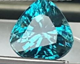 4.63cts, Blue Zircon, VVS1 Eye Clean,