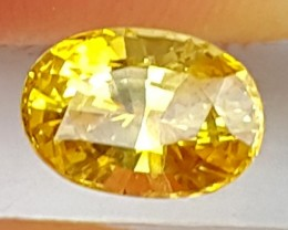 1.38cts, Yellow Sapphire,  Heat Only,  VVS1