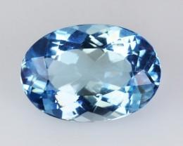~SANTA MARIA~ 2.06 Cts Natural Blue Aquamarine Oval Brazil