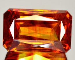 ~RARE~ 14.20 Cts Natural Sphalerite Sunset Orange Octagon Spain