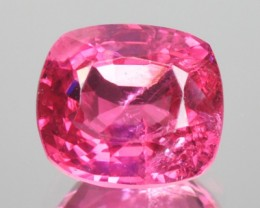 0.95 Cts Natural Reddish Pink Spinel Cushion Mogok - Burmese