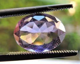 3.85ct OVAL FACETED BRAZILIAN AMEHYST GEMSTONE CUT IN THE U.S MJ118